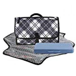HALOViE Cambiador Portátil de Pañales para Bebé Infantil Plegable con Caja de Pañales Kit Cambiador de Viaje Acolchado Esterilla Bolso Impermeable Lavable Organizador Muñecas Carrito