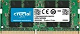 Crucial CT16G4SFD824A Memoria RAM de 16 GB (DDR4, 2400 MT/s, PC4-19200, Dual Rank x 8, SODIMM, 260-Pin)