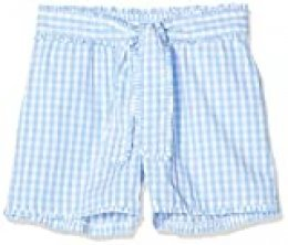 Scotch & Soda Yarn Dyed Check Cotton Shorts with Shell Fabric Bow Pantalones Cortos, Multicolor (Combo Orbit 0597), 140 (Talla del Fabricante: 10) para Niñas