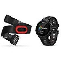Garmin Forerunner 735XT Pack de Reloj Multisport, Unisex Adulto, Negro y Gris, M