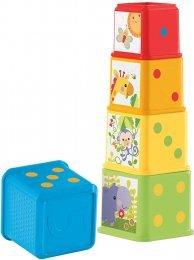 Fisher, Price Bloques Apila y Descubre, Juguete para Bebé +6 Meses (Mattel CDC52)