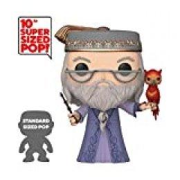 """Funko- Pop Harry Potter: 10"""" Dumbledore w/Fawkes S10 Figura Coleccionable, Multicolor (48038)"""