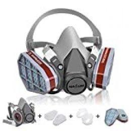 Facial Cubierta, NASUM Facial Cubierta Antipolvo, Filtro de Protección, A Prueba de Polvo, Reutilizable a Media Cara, para Trabajo en Aerosol / Pintura