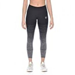 Arena W Seamless Long Tight Mallas Largas Sin Costuras Mujer, Dark Grey Melange-Black, M