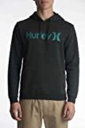 Hurley M Surf Check One & Only Pullover Sudadera, Hombre, Black Heather, L