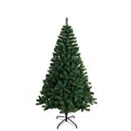 Árbol de Navidad Artificial Arboles Abeto C/Soporte 120-240cm (Verde, 150cm 390Tips)