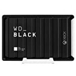 WD BlackD10 - Game Drive de 12TB y 7200 r.p.m. con refrigeración activa para guardar tu enorme colección de juegos