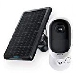 Reolink Cámara IP Exterior de Batería WiFi 1080P HD con Batería Recargable y Panel Solar, Inalámbrico Audio Bidireccional Impermeable Camara para Hogar Seguridad, Argus Pro