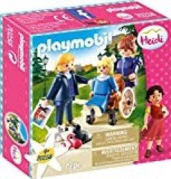 PLAYMOBIL- Clara, Padre y Srta Rottenmeier Set Juguetes, Multicolor (70258)