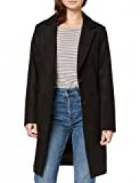 New Look Petite P OP Lead IN Coat Abrigo, Negro (Black 1), 36 para Mujer