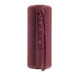 Vieta Pro Goody - Altavoz inalámbrico (True Wireless Bluetooth, Radio FM, Reproductor USB, auxiliar, micrófono integrado, resistencia al agua IPX6, batería de 12 horas) grana