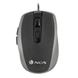 NGS Tick Silver USB Óptico 1600DPI Mano Derecha Plata - Ratón (USB, Oficina, Botones presionados, Rueda, Óptico, 1600 dpi)