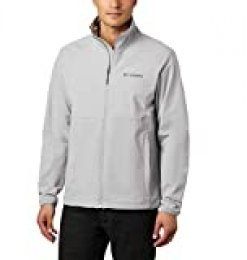 Columbia Heather Canyon, Chaqueta Softshell sin capucha, Hombre, Gris (Columbia Grey Heather), XXL