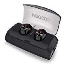 MIROCOO V6 Auriculares Bluetooth 5.0, TWS Mini In Ear Auriculares Bluetooth Inalámbricos Cascos Deportivos Auriculares, HiFi Estéreo 125 Horas Reproducción, IPX6 con Mic y Caja de Carga 3000mAh