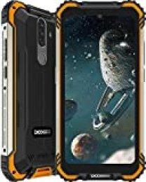 Móvil Resistente, DOOGEE S58 Pro Smartphone 4G Android 10, Cámara Triples 16MP Cámara Frontal 16MP, 6GB+64GB-SD 256GB, 5180mAh, 5.7 Pulgada IP68/IP69K Teléfono Móvil Libre Antigolpes, NFC/GPS, Naranja