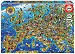 Educa Borras Puzzle Mapa De Europa 500 Piezas (17962)