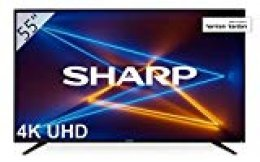 """Sharp LC-55UI7252E - UHD Smart TV de 55"""" (resolución 3840 x 2160, HDR, 3X HDMI, 2X USB, 1x USB 3.0) Color Negro"""