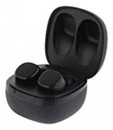 Auriculares estéreo con Bluetooth, inalámbricos con Perfil de Sonido Premium, Especialmente pequeños y Ligeros, Grado de protección IPX6, Agarre cómodo, Bluetooth 5.0 (Negro)