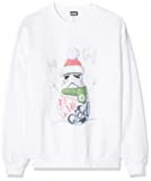 Star Wars Men's Stromtrooper Up To Snow Good Christmas Sweatshirt Sudadera, Blanco (White 002), Medium para Hombre