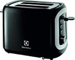 Electrolux EAT3300 Tostadora Love Your Day Collection, 940 W, Acero Inoxidable/plastico, 2 Ranuras, Negro