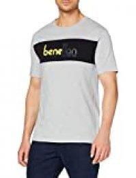 Benetton T-Shirt Jersey, Gris (Grigio Melange 501), X-Small para Hombre