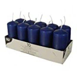 PAPSTAR 17916 10 cirios, diámetro 40 mm, 90 mm, Azul Oscuro