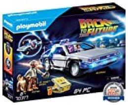 PLAYMOBIL- Back to The Future Delorean con Efectos de Luz, A Partir de 6 Años, Multicolor (70317)