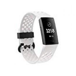 Fitbit Charge 3 Pulsera Avanzada de Salud y Actividad física, Unisex-Adult, Grafito/Blanco, Talla Unico