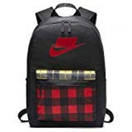 Nike Nk Heritage Bkpk-2.0 AOP Hombre, Black/University Red/University Red, Talla Única