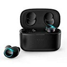 HOMVILLA Mini auricular Bluetooth, auriculares inalámbricos True con estuche de carga V5.0 Bluetooth 6H Playtime Auriculares para automóvil con micrófono Auricular Bluetooth para iPhone Samsung Huawei