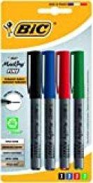 BIC Marking Fine ECOlutions marcadores permanentes punta fina - colores Surtidos, Blíster de 4 unidades