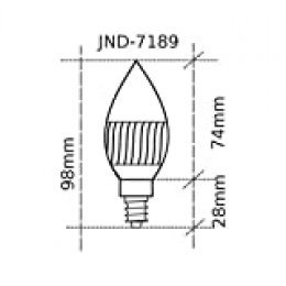 Jandei - Bombilla LED vela E14 3W 4000ºK blanco natural