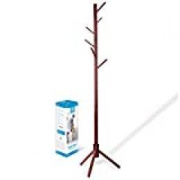 Zober - Perchero de madera de pino lacado de alta calidad con 6 ganchos, para abrigos, sombreros, bufandas, ropa y bolsos