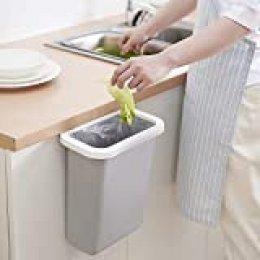 TTMOW Cubos de Basura Colgando para la Cocina, Coche, Oficina, Baño, Dormitorio 10L (Gris)