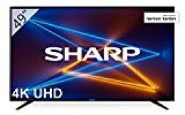 "Sharp LC-49UI7252E - UHD Smart TV de 49"" (resolución 3840 x 2160, HDR, 3X HDMI, 2X USB, 1x USB 3.0) Color Negro"