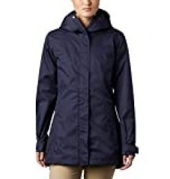 Columbia Splash A Little II, Chaqueta impermeable, Mujer, Azul oscuro (Nocturnal Titch Diamond Print), S