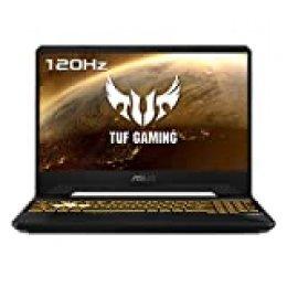 "ASUS TUF Gaming FX505DV-AL014 - Portátil Gaming de 15,6"" FullHD (Ryzen 7 3750H, 16GB RAM, 512GB SSD, NVIDIA GeForce RTX2060-6GB, Sin Sistema Operativo) Negro Sigilo - Teclado QWERTY Español"