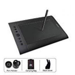 HUION H610Pro 8192 Niveles Presión del Lápiz Tavoletta Grafica con 8+16 Tasti Scorciatoia, Tavoletta Digitale da Disegno e Pittura a Penna