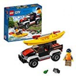 LEGO City - Great Vehicles Aventura en Kayak, Set Creativo de construcción de Aventuras acuáticas con Coche y Canoa de Juguete (60240)