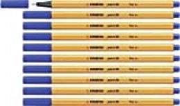 Rotulador punta fina STABILO point 88 - Caja con 10 unidades - Color azul