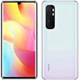 "Xiaomi Note 10 Lite (Pantalla AMOLED curva 3D de 6,47 "" FHD+, DotDisplay, 6GB+64GB, Cámara cuádruple de 64MP, Cámara selfie de 32 MP, Snapdragon 730G, 5260 mAh con carga de 30W, NFC) Blanco glaciar"
