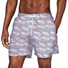 Urban Classics PatternSwim Shorts Bañador para hombre, Flamingo Aop, M