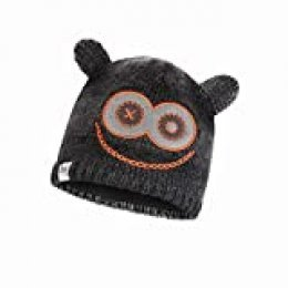 Buff Monster Jolly Gorro Tricot Y Polar Junior, Unisex niños, Black, Talla única