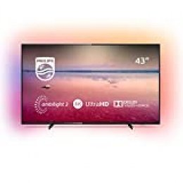 Televisor Philips Ambilight 43PUS6704/12 de 108 cm (43 pulgadas) con tecnologías led y Smart TV (4K UHD, HDR 10+, Dolby Vision, Dolby Atmos, Smart TV), color negro
