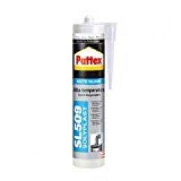 Pattex SL 509 Alta Temperatura Sellador de silicona acética, sellador de silicona negra resistente a altas temperaturas, silicona para aluminio y vidrio, 1 x 300 ml
