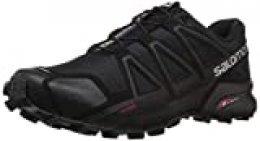 Salomon Speedcross 4, Zapatillas de Trail Running para Hombre, Negro (Black/Black/Black Metallic), 40 2/3 EU