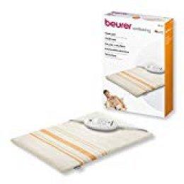 Beurer HK 25 - Almohadilla electrónica, 40 x 30 cm, lavable, color blanco y naranja