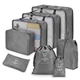Joyoldelf - Bolsas de viaje esenciales, gris, talla estándar
