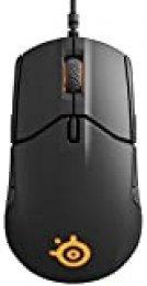 SteelSeries Sensei 310, ratón para juegos óptico, ambidiestro, iluminación RGB, 8 botones, laterales de goma, PC/Mac, color negro