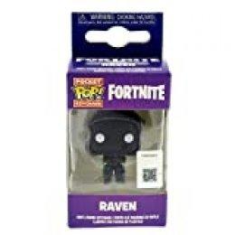 LAST LEVEL- Pocket Llavero Pop FORTNITE: Raven, Multicolor (Funko 1)
